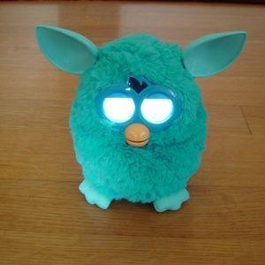"HASBRO Blue/Teal 6"" Furby A Mind Of Its Own w/ Box"